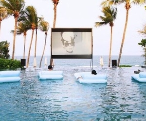 cinema, pool, and summer image
