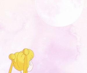 wallpaper, sailor moon, and pink image