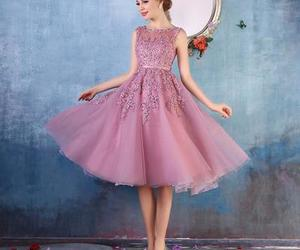 cocktail dress, homecoming dress, and lace appliques image