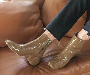 boots, fashion, and leather image