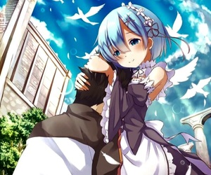 anime, rem, and cute image