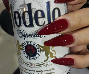 nails, beer, and red image