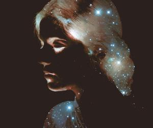 girl, stars, and art image