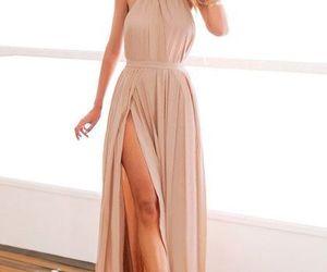 fashion, Nude, and long dress image