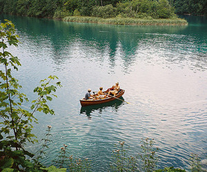 nature, boat, and water image