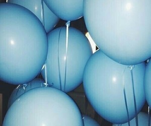 alternative, balloons, and blue image