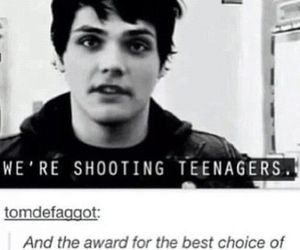 my chemical romance, gerard way, and teenager image