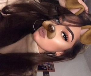 black, dog, and eyelashes image
