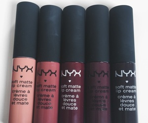 makeup, NYX, and lipstick image