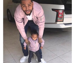 daddy and daughter, babygirl, and dave east image
