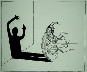 franz kafka, kafka, and Metamorphosis image