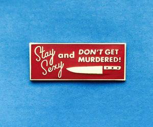 murder, pin, and enamel pin image