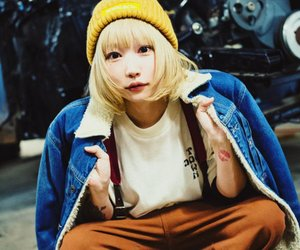 blonde, japanese girl, and jeans image