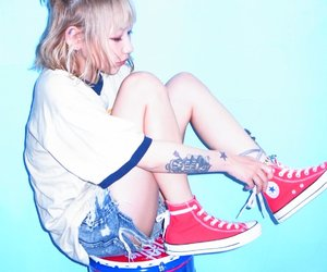 all star, blonde, and japanese girl image