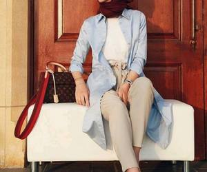 hijab, summer, and spring image