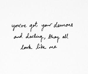 demons, handwritten, and Lyrics image