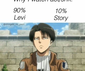 levi, funny, and aot image
