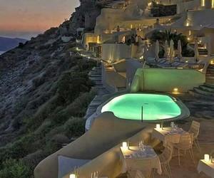 Greece, santorini, and summer night image