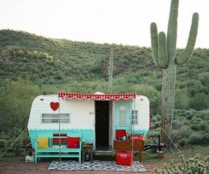 Camper, vintage, and retro image