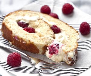 raspberry, cake, and food image