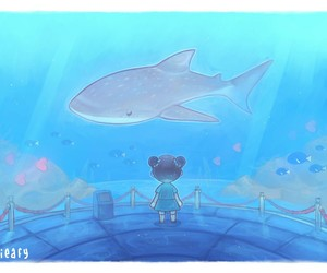 animal crossing and shark image