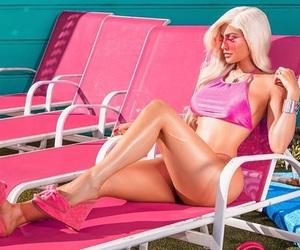 aesthetics, pink heels, and blonde image