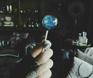 blue, nails, and lollipop image