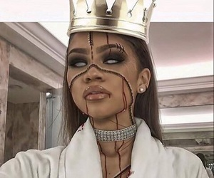 zendaya, Halloween, and makeup image