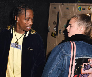 travis scott and cara delevingne image