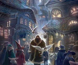harry potter, art, and hagrid image