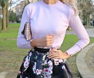 bags, blonde, and outfits image