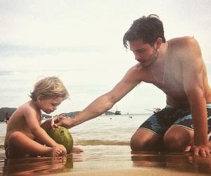 beautiful, dad, and sea image