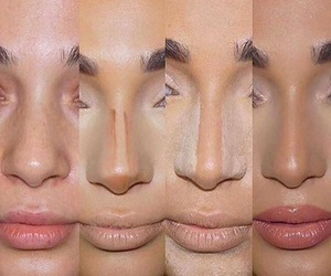makeup, nose, and lips image