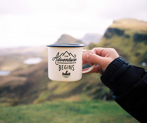 adventure, drink, and landscape image