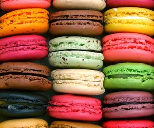 macaroons, food, and macarons image