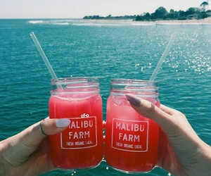 summer, drink, and sea image