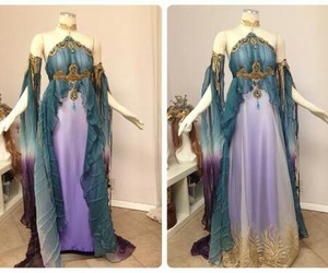 blue, fairly, and dress image