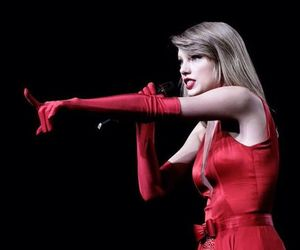 Taylor Swift and on her red tour image