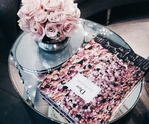 flowers, dior, and rose image