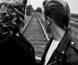 couple, black and white, and rockabilly image