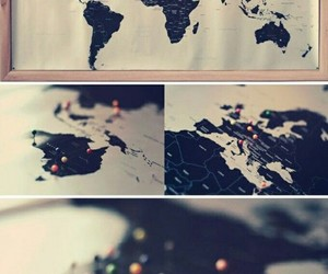 map, diy, and idea image