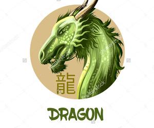 brown, dragon, and green image