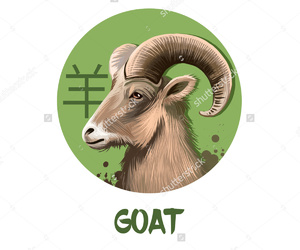 brown, goat, and green image