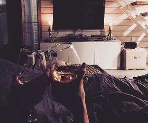 wine, home, and couple image
