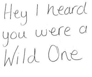 wild one, wild, and quote image