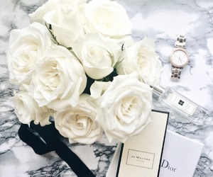 beauty, dior, and flowers image