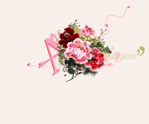 edit, flowers, and letters image