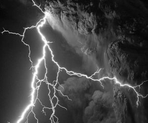 nature, lightning, and storm image