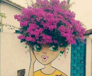 art, flowers, and flores image
