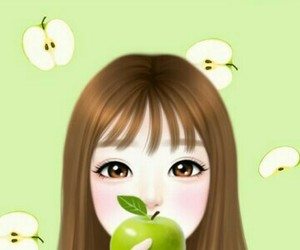 apple, apples, and art image